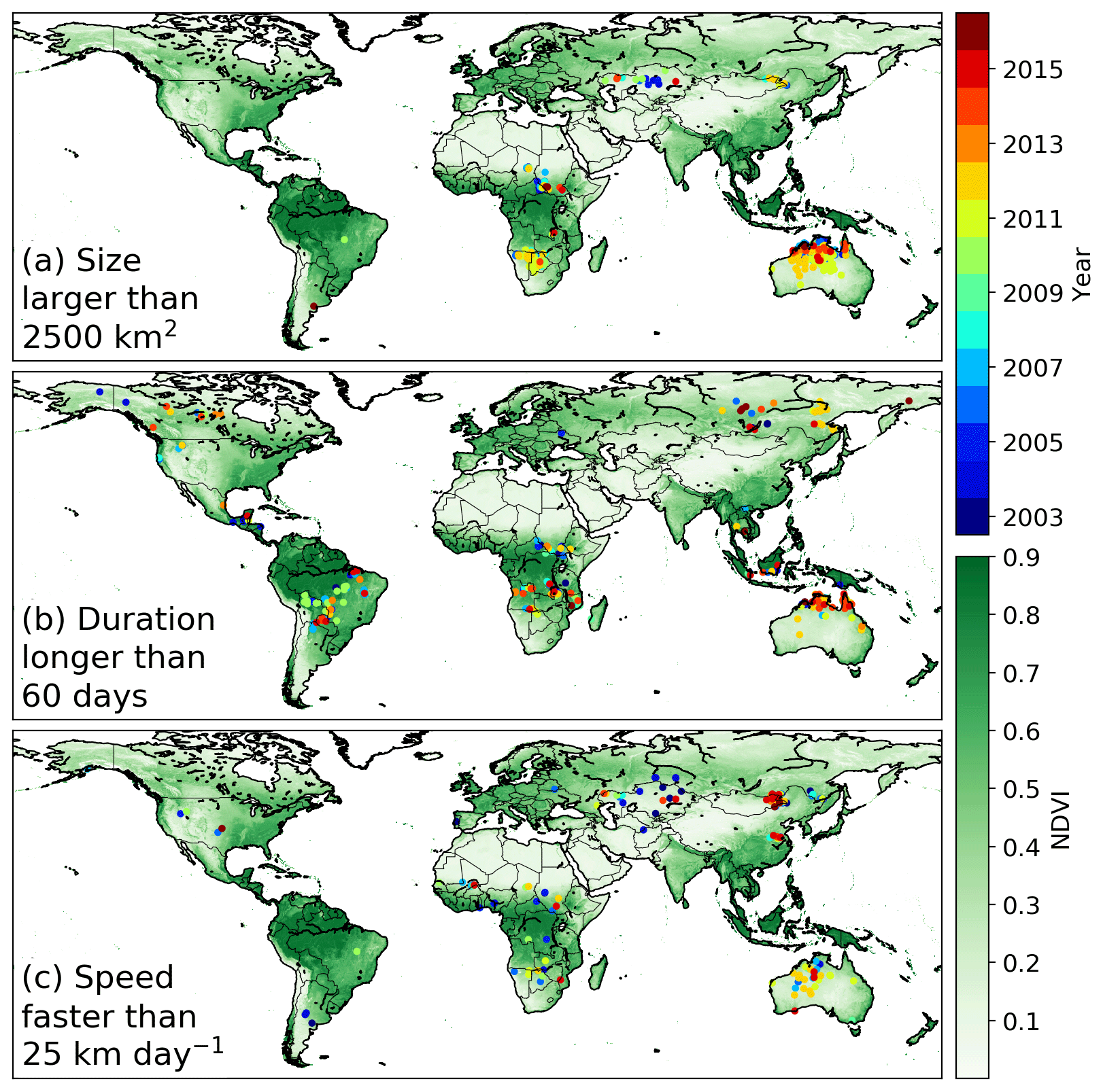 ESSD - The Global Fire Atlas of individual fire size, duration